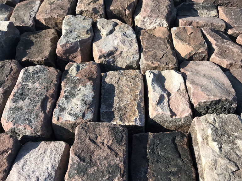Cobble Stone Granite Pavers - Your Source For Sawn Barn Timbers