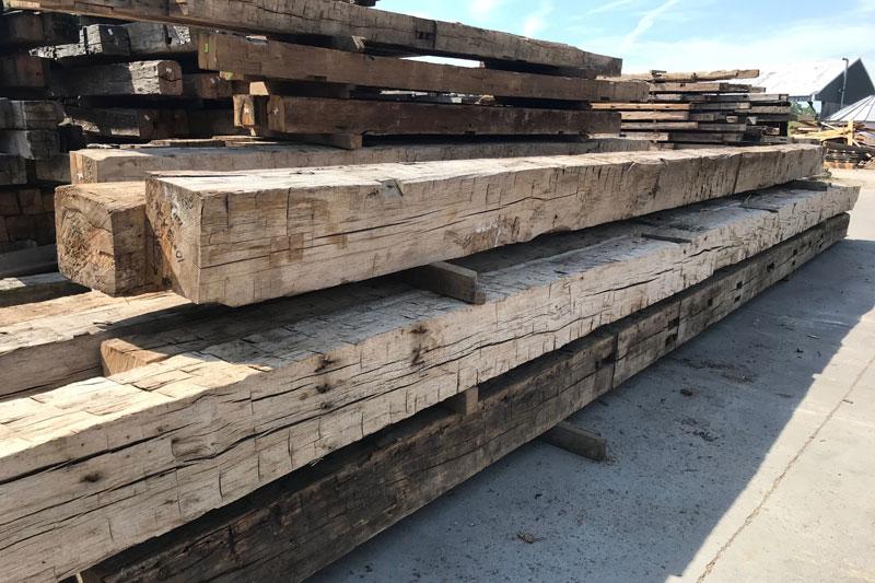 Hand Hewn Barn Timbers Oak Eatern Hardwood Ship