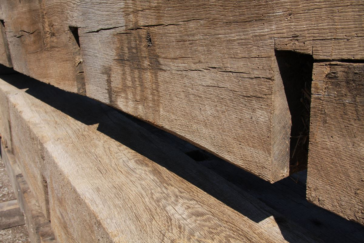 Triple B Enterprises The Reclaimed Timber Company Reclaimed Timber Company - Your Source For Hand-Hewn Two-Sided Sleepers