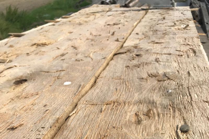 Triple B Enterprises The Reclaimed Timber Company White Oak Hand Hewn Skins